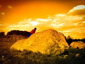 "Jaxon climbs the ""mountain""."