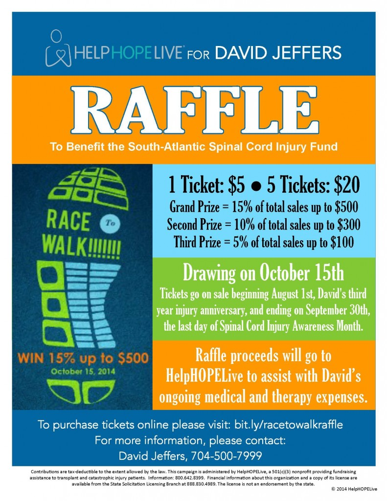 Race to Walk Raffle